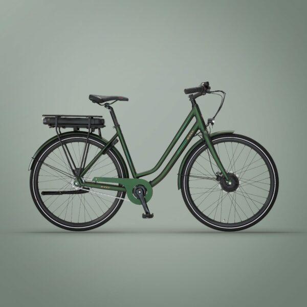 Via Forhjulsmotor dame elcykel i grøn